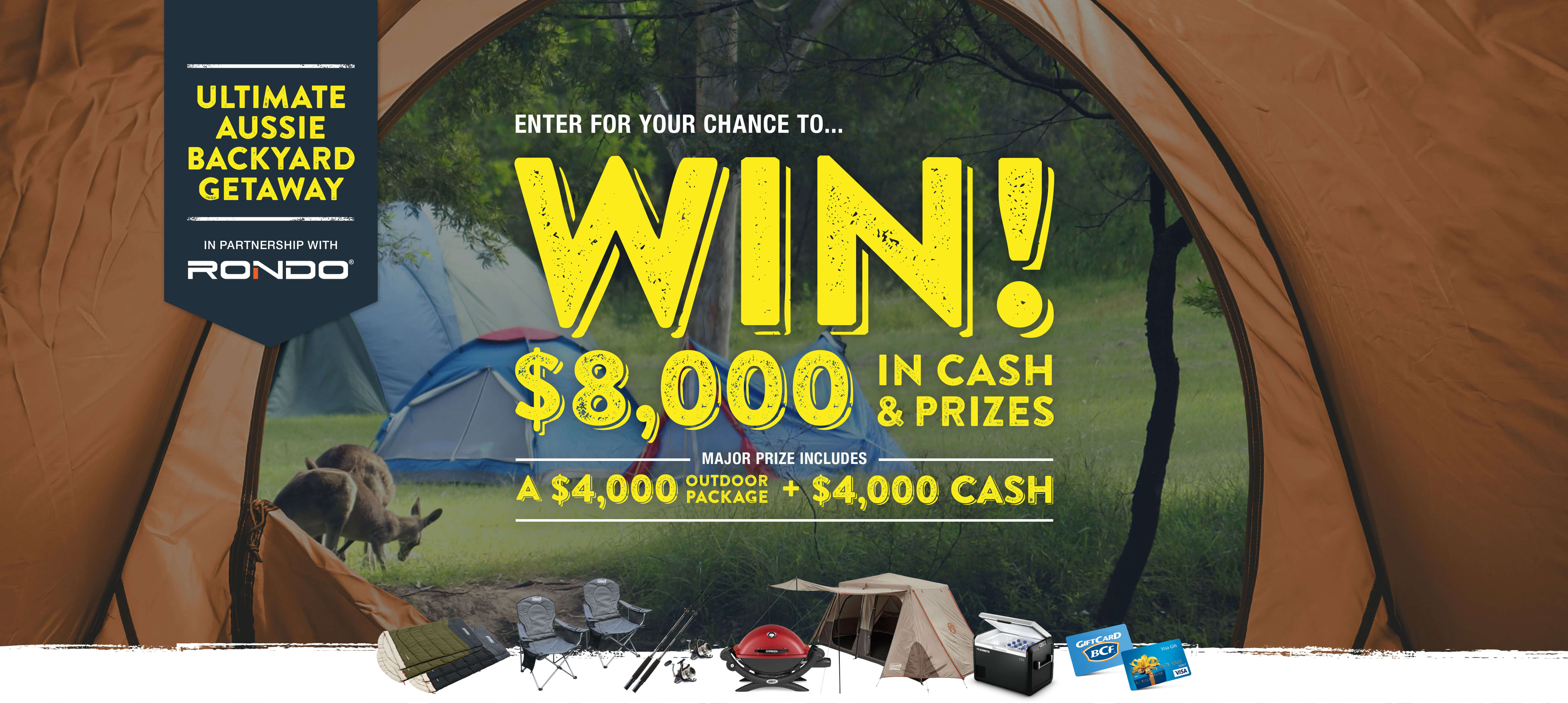 Win $8000 in cash and prizes