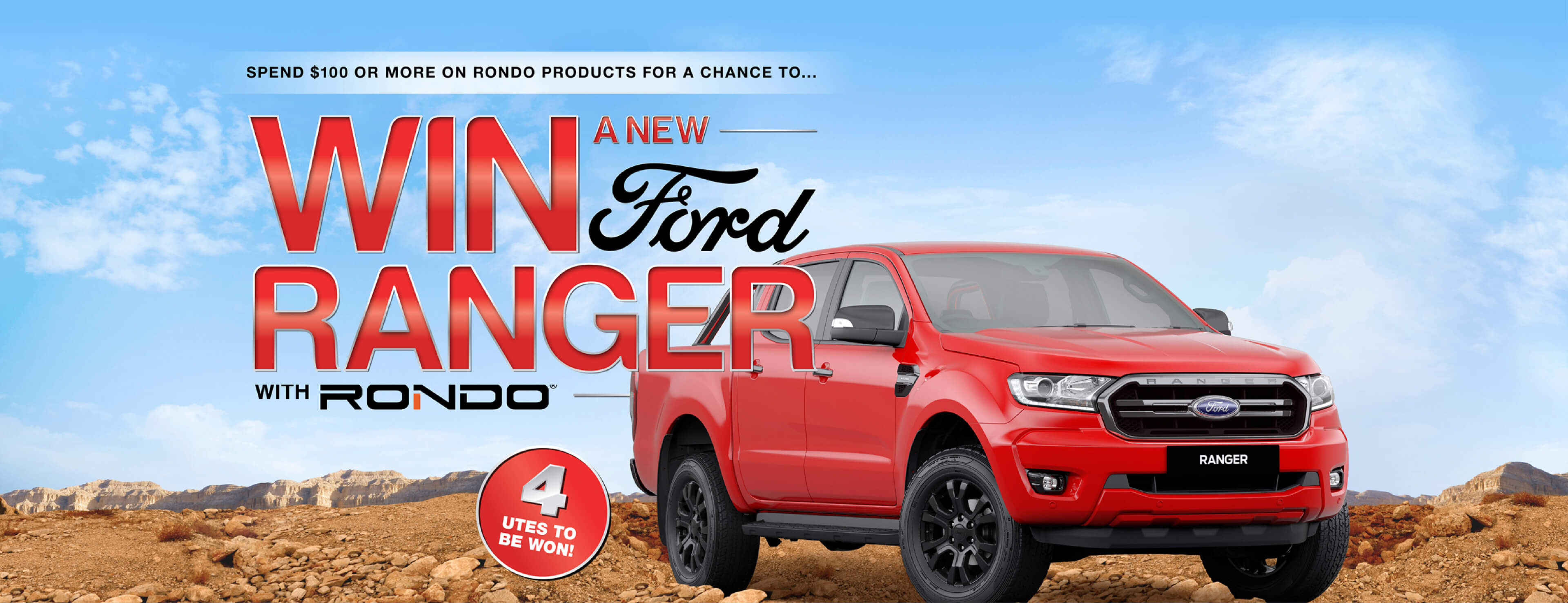 Win a new Ford Ranger with Rondo